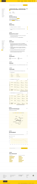dudenonline-lemmapage-selbststaendig